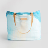 This is a blue carry all tote by Alison Jerry Designs called Waterfall.