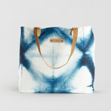 This is a blue carry all tote by Agnes Pierscieniak called Indigo Diamond.