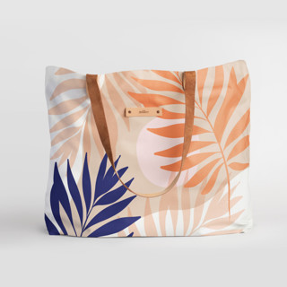 This is a pink carry all tote by Dominique Vari called Tropical mood in standard.