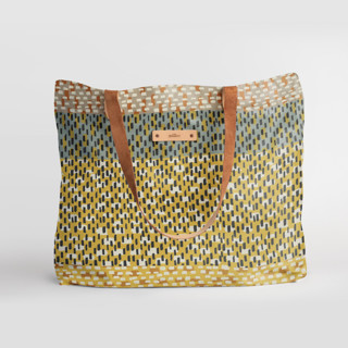 This is a yellow carry all tote by Bethania Lima called Basic in standard.