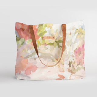 This is a pink carry all tote by Amy Hall called Spring Bloom.