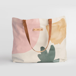 This is a pink carry all tote by Creo Study called Foodie.