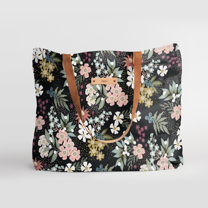 Wildflower Scatter Carry-All Slouch Tote, $78