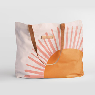 This is a orange carry all tote by Pippa Shaw called Great Day.