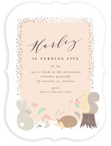 This is a pink kids birthday invitation by chocomocacino called rinaldini with foil-pressed printing on signature in standard.