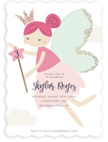 This is a gold kids birthday invitation by peetie design called glitter fairy with foil-pressed printing on signature in standard.