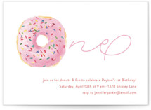 This is a pink kids birthday invitation by Lagniappe Paper called Sprinkle Me One with standard printing on recycled in standard.