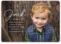 This is a white kids birthday invitation by Kasia Labocki called Birthday Script with standard printing on smooth signature in standard.