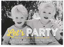 This is a yellow kids birthday invitation by Lauren Chism called Just Be with standard printing on smooth signature in standard.