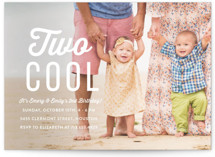This is a white kids birthday invitation by Susan Asbill called Two Cool with standard printing on smooth signature in standard.