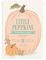 This is a green kids birthday invitation by Karidy Walker called Autumn Pumpkin with standard printing on signature in standard.