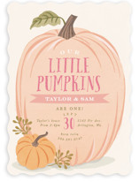 This is a orange kids birthday invitation by Karidy Walker called Autumn Pumpkin with standard printing on signature in standard.