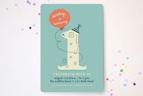 Pup Party Children's Birthday Party Invitations