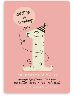 Puppy theme kids birthday party invitations minted pup party childrens birthday party invitations by lori wemple stopboris Image collections