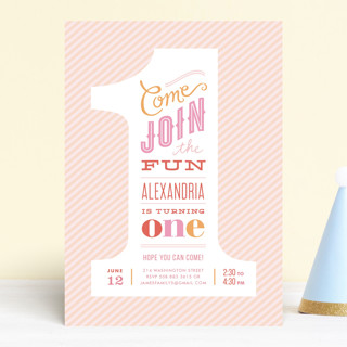 The Big One Children S Birthday Party Invitations Minted