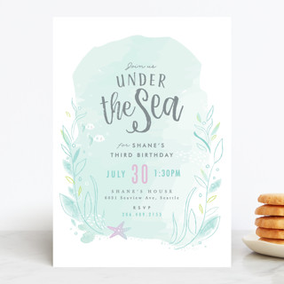 under the sea children s birthday party invitation minted