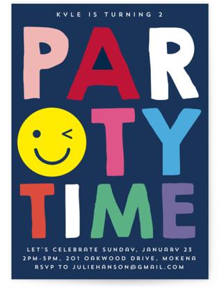 Emoji Party Children's Birthday Party Invitations