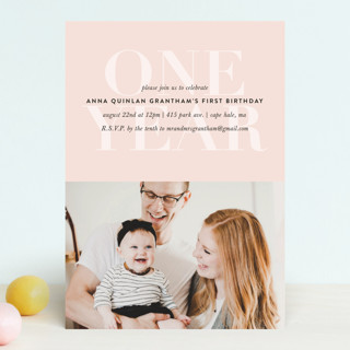 one year children s birthday party invitations by minted
