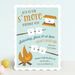 SMore Fun Childrens Birthday Party Invitations