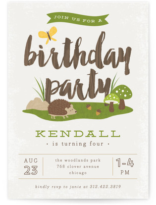 woodland themed kids birthday party minted