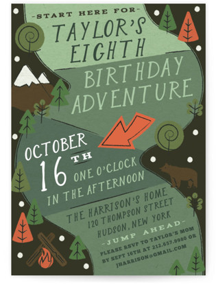 Skip Go Children's Birthday Party Invitations