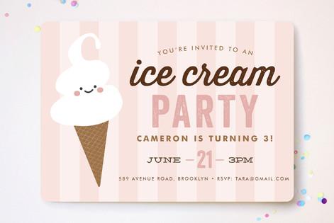 Ice cream parlor childrens birthday party invitat minted ice cream parlor childrens birthday party invitations filmwisefo