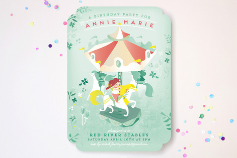 Carousel Childrens Birthday Party Invitations by Minted