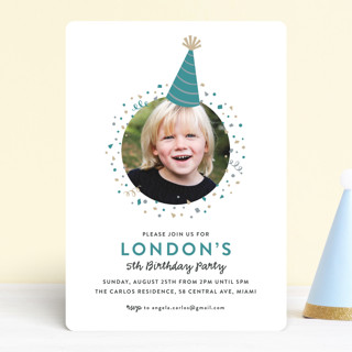 Party Hat Children's Birthday Party Invitations