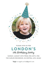Party Hat Children's Birthday Party Invitations By Hooray Creative