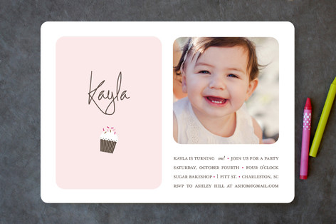 Sweetly Sprinkled Children's Birthday Party Invitations