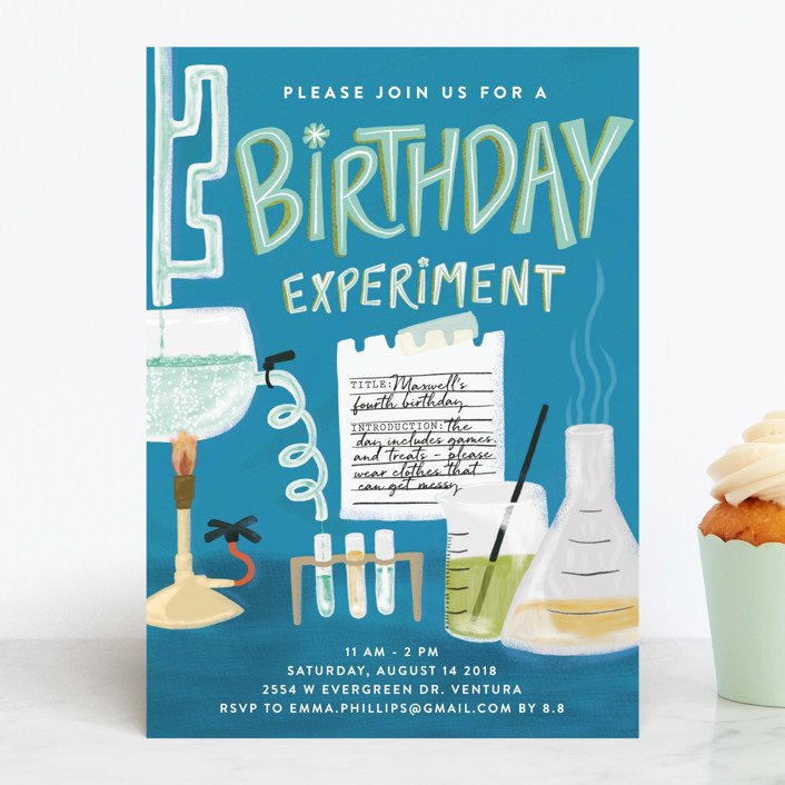 Science Kids' Birthday Party Invitation