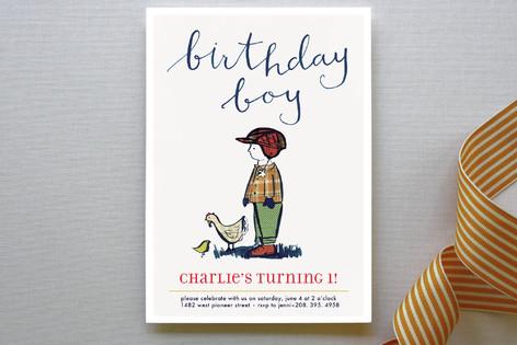 Farm Boy Children's Birthday Party Invitations