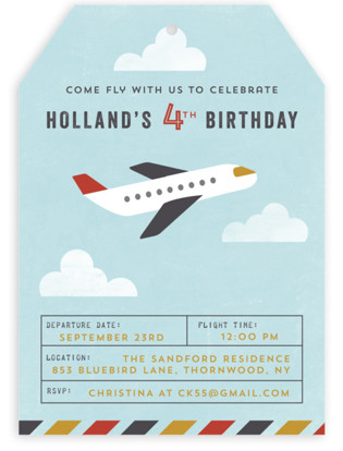 Flying High Childrens Birthday Party Invitations By Annie Holmquist