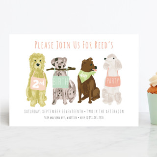 Puppy Line-Up Children's Birthday Party Invitations