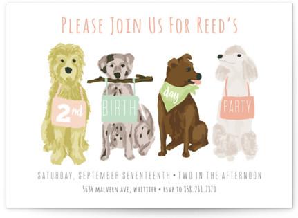 Puppy theme kids birthday party invitations minted puppy line up childrens birthday party invitations by shiny penny studio filmwisefo