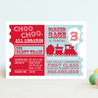 Choo Choo Train Children's Birthday Party Invitations