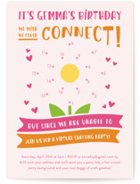 This is a orange kids birthday invitation by Christina Novak called We Connect! with standard printing on signature in standard.