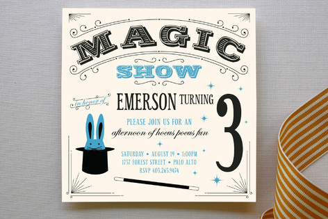 Magic Show Childrens Birthday Party Invitations – Magic Party Invitations