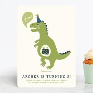 Cakeasaurus Dinosaur Children S Birthday Party Inv Minted