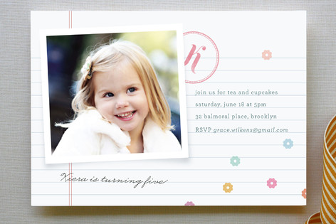 Confetti Love Children's Birthday Party Invitations