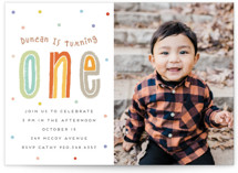 This is a colorful kids birthday invitation by chocomocacino called boba with standard printing on signature in standard.