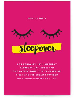 Sleepover Children's Birthday Party Invitations