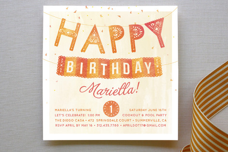 Fiesta Children's Birthday Party Invitations