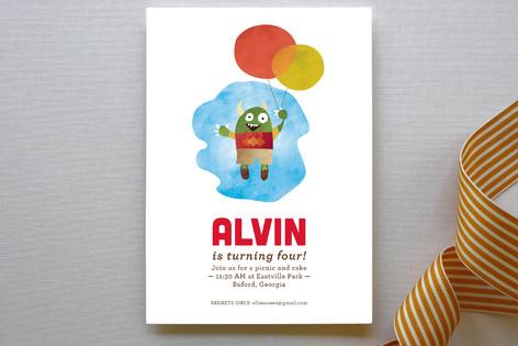 Flying High Children's Birthday Party Invitations
