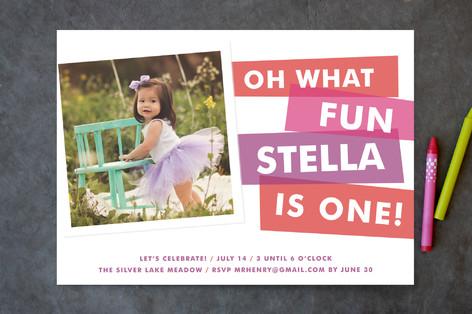 What Fun Children's Birthday Party Invitations