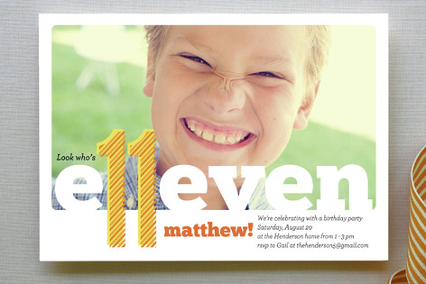 Ex Libris Children's Birthday Party Invitations