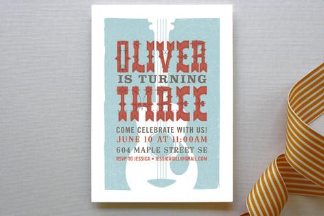 Folk Music Children's Birthday Party Invitations