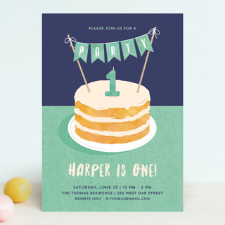 Buttercream & Bunting Children's Birthday Party Invitations