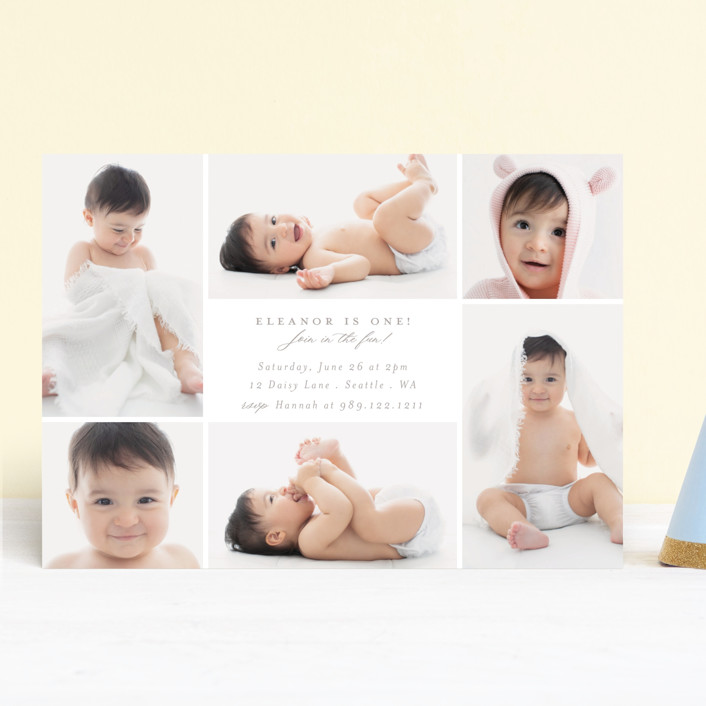 """""""Join in the fun!"""" - Children's Birthday Party Invitations in Cloud by Caitlin Considine."""