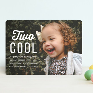 Two Cool Children's Birthday Party Invitations